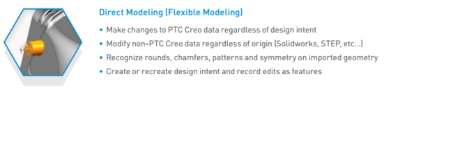 PTC Creo Essentials Direct Modelling