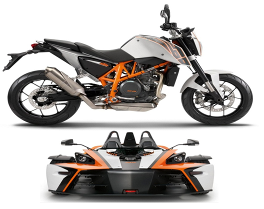 KTM Vehicles modelled in PTC Creo
