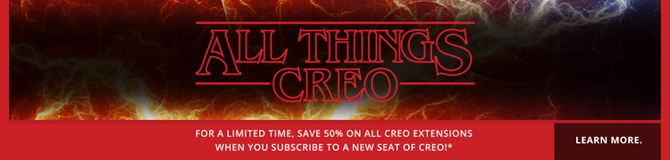 save 50% on all Creo extensions for a limited time